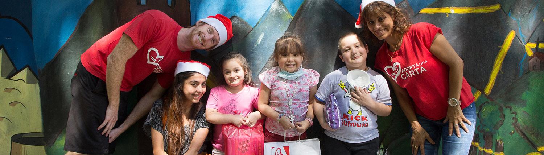 AUC Team outside of Dr. Ricardo Gutierrez Children's Hospital
